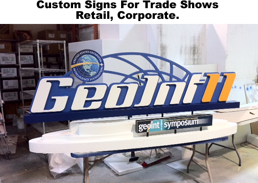 Custom foam displays and signs for the Geo Int Symposium