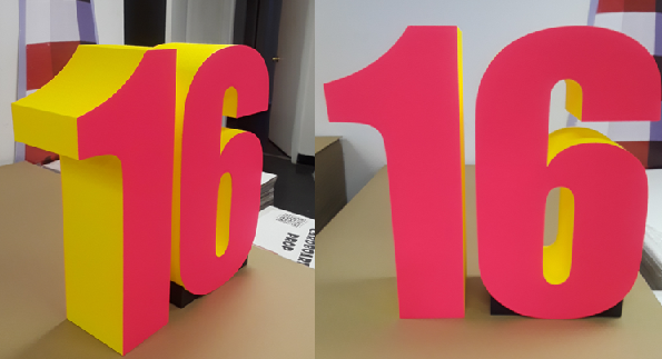 Custom Foam Letters Signs Displays for Sweet 16 Birthday Party and Event
