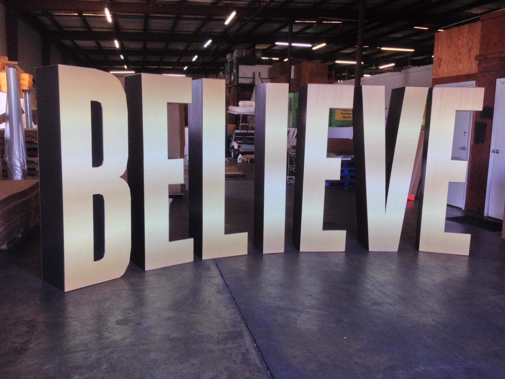 Custom Cardboard Cutout Standup 3D Letters and Numbers  Stage Displays for Corporate Conference Tradeshow and Events custom color