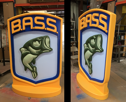 Retail Custom Foam Signage for interior and exterior display B.A.S.S