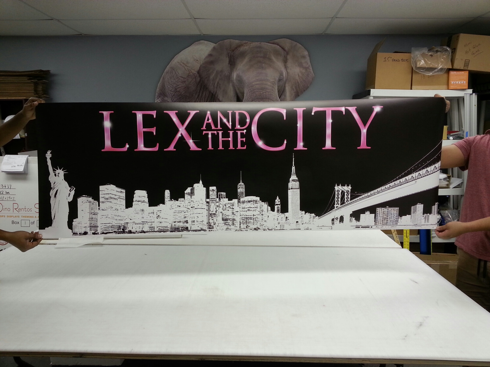 Custom Cardboard Cutout Standup Vinyl Banner in Full Color for Parties and Events
