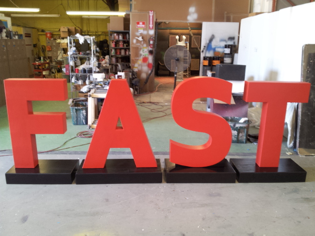 Custom Foam Letter and Number Displays for Outdoor Event Tradeshow