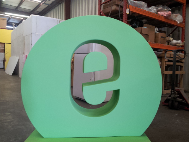 Custom Foam Sculptured Logo Letter Displays for Events and Tradeshows