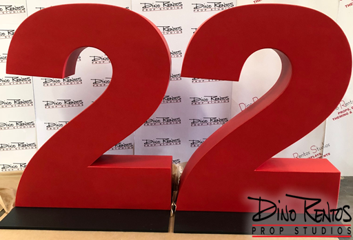 Custom Foam Plastic Coated Numbers and Letter Prop for tradeshows and events
