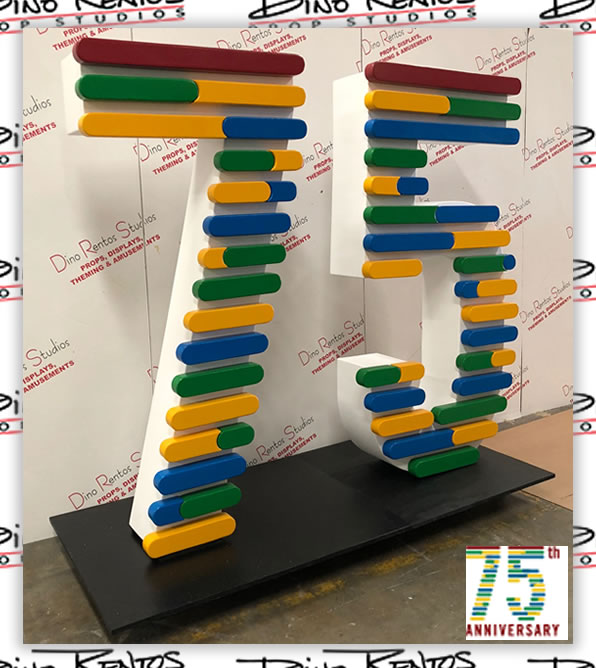 Custom Foam Letters and Number Prop Display for company events and anniversary