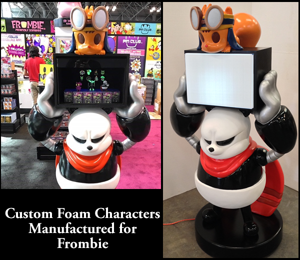 Custom Foam Character Prop for Frombie Tradeshow Display
