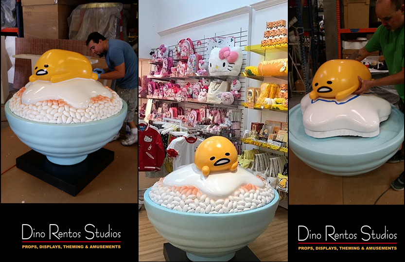 Custom Retail Point of Sale Purchase Foam Display Gudetama Hello Kitty