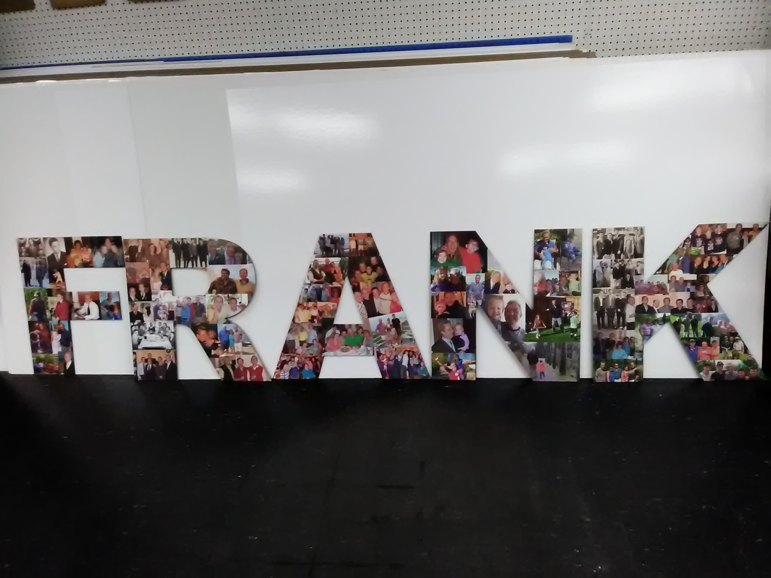 Custom Cardboard Cutout Standup Letters and Numbers Collage for Party and Events