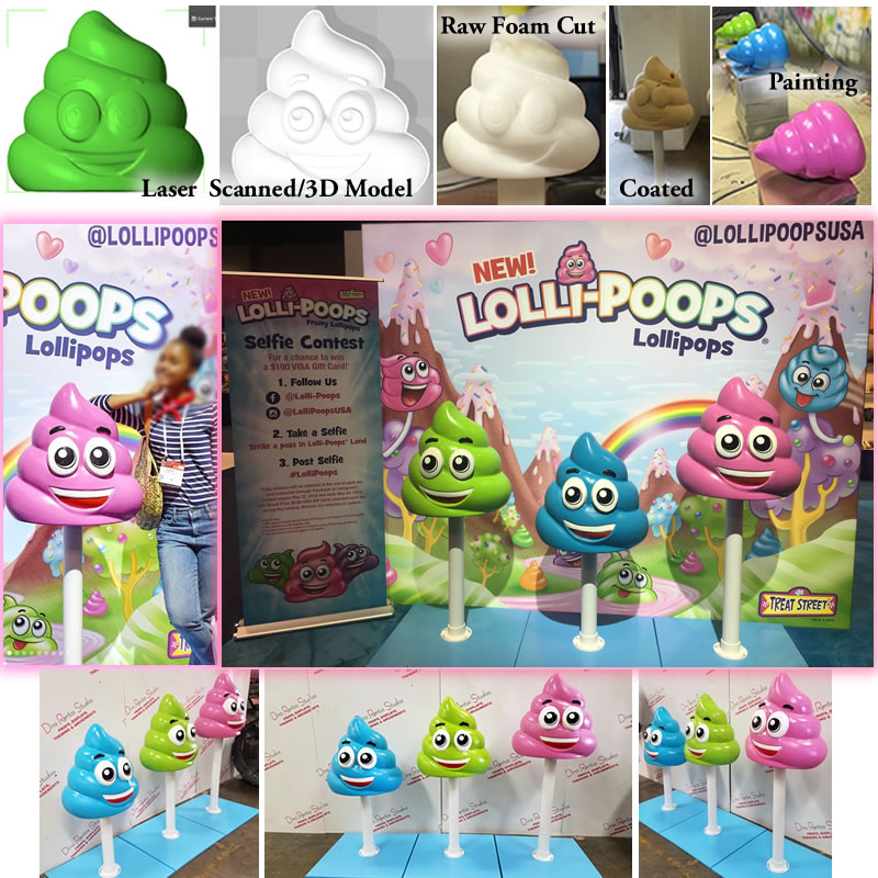 Custom Foam Lollipoop Lollipop Character Prop for Tradeshow