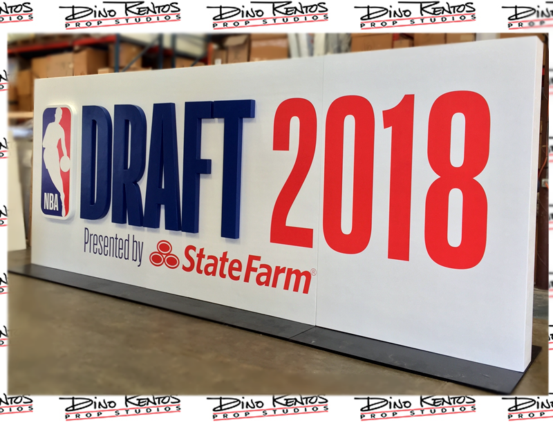 Custom Foam NBA Draft 2018 Monolith Sign for outdoor use
