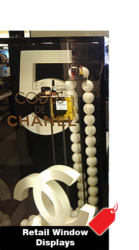 CUSTOM RETAIL STORE WINDOW DISPLAYS AND DECOR