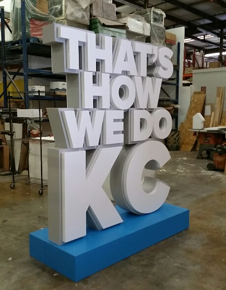 Custom Foam Sculptured Letter Monolith Displays for Corporate Events and Tradeshows