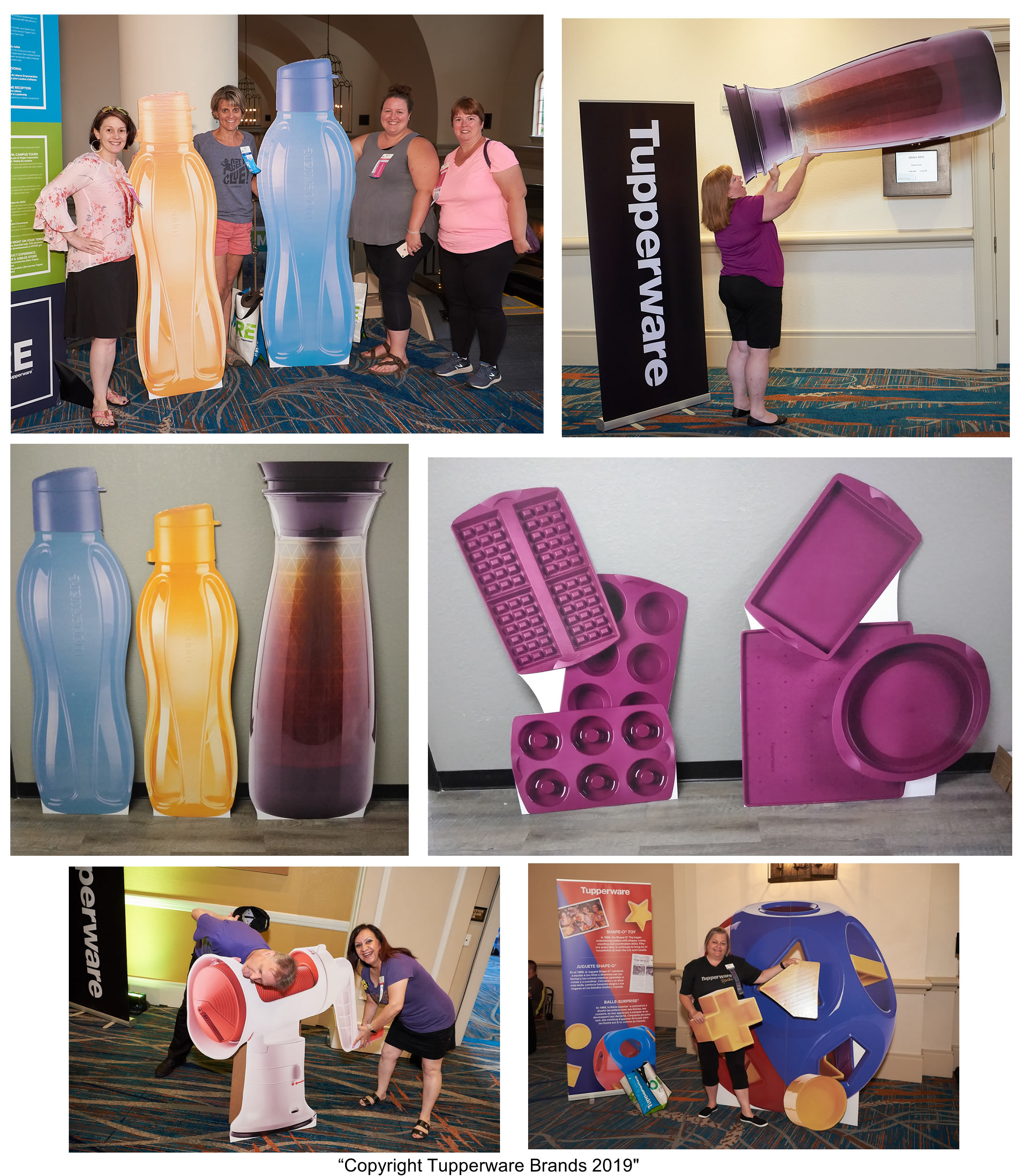 Tupperware Custom Cardboard Cutout Standups for Tradeshows and Events