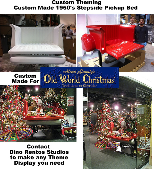 Custom Commercial Grade Retail Truck Bed Display and Decor for Holiday Theme Christmas