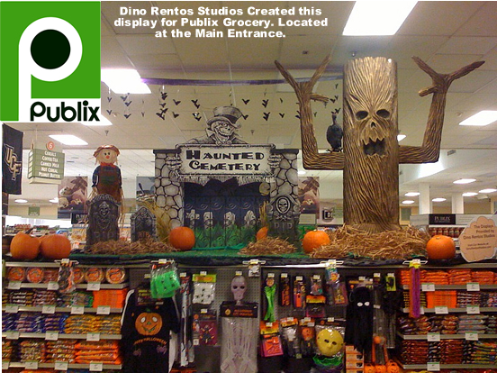 Custom Commercial Grade Retail Display and Decor for Holiday Theme Halloween